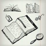 Libri di scarabocchio messi Fotografia Stock