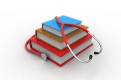 Libri di testo medici Fotografia Stock