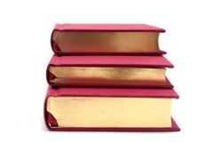Libri dorati Fotografia Stock