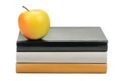 Libri e Apple Immagini Stock Libere da Diritti