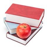Libri e Apple Fotografia Stock