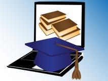 Libri e formazione del Internet Immagini Stock