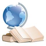 Libri e globo Fotografia Stock