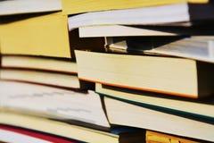 Libri e istruzione, fondo Fotografia Stock Libera da Diritti