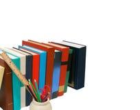 Libri e matita Fotografie Stock