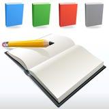 Libri e matita Immagini Stock