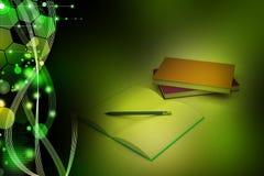 Libri e matita, concetto di istruzione Fotografia Stock