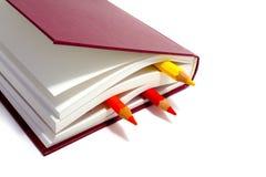 Libri e matite Immagine Stock Libera da Diritti