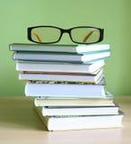 Libri e vetri Immagini Stock