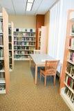 Libri e zona della lettura alla libreria Fotografie Stock