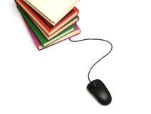 Libri ed il mouse del calcolatore. Immagine Stock Libera da Diritti