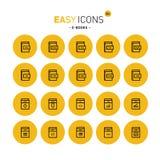 Libri elettronici facili delle icone 26c illustrazione di stock