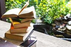 Libri in giardino Immagine Stock Libera da Diritti