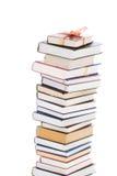 Libri in imballaggio del regalo isolato su un bianco Fotografia Stock