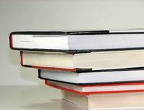 Libri impilati Fotografie Stock