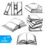 Libri impostati Fotografia Stock