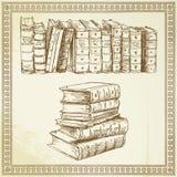 Libri - insieme disegnato a mano Fotografia Stock Libera da Diritti
