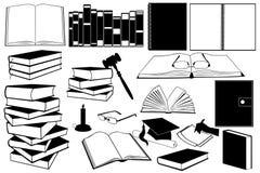 Libri isolati Immagini Stock