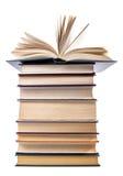 Libri isolati e vecchi Fotografia Stock Libera da Diritti