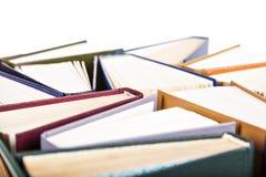 Libri isolati e vecchi Immagine Stock