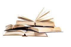 Libri isolati e vecchi Immagini Stock Libere da Diritti