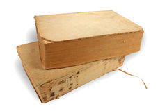 Libri isolati primo piano antico Fotografia Stock Libera da Diritti