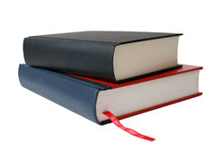 Libri isolati sopra bianco. Fotografia Stock