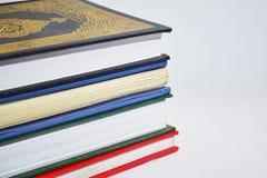 Libri isolati su priorità bassa bianca Immagine Stock Libera da Diritti
