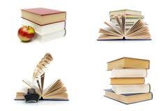 Libri isolati su priorità bassa bianca Immagini Stock Libere da Diritti
