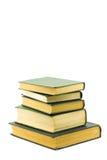 Libri isolati su una priorità bassa bianca Fotografia Stock Libera da Diritti