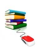 Libri in linea Immagini Stock