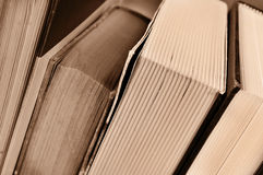 Libri, nel tono di seppia Fotografie Stock