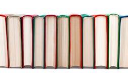 Libri nella riga Immagine Stock