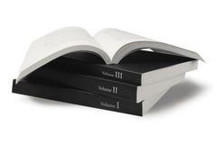 Libri neri della copertura Fotografia Stock