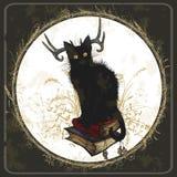 Libri neri e magici del diavolo Fotografie Stock Libere da Diritti