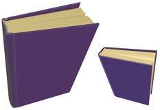 Libri porpora in bianco Immagini Stock