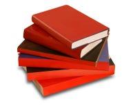 Libri rossi Immagine Stock