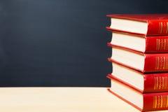 Libri rossi Fotografie Stock