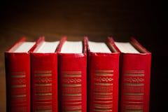 Libri rossi Immagini Stock