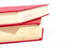 Libri rossi fotografia stock