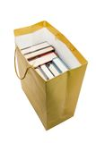 Libri in sacco di carta Immagini Stock