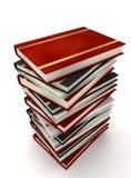 Libri su bianco Fotografia Stock Libera da Diritti