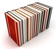 Libri su priorità bassa bianca Fotografie Stock Libere da Diritti