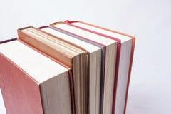 Libri su priorità bassa bianca Fotografia Stock Libera da Diritti