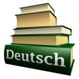 Libri tedeschi di ducation - tedesco Immagine Stock Libera da Diritti