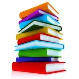 Libri variopinti Immagine Stock