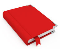 libro 3d con una cubierta en blanco Fotos de archivo