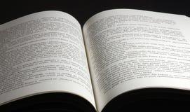 Libro abierto Foto de archivo libre de regalías