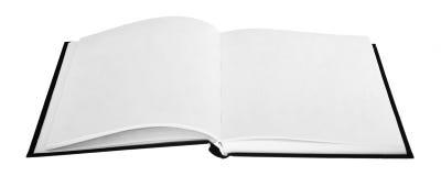 Libro abierto con las paginaciones en blanco fotografía de archivo libre de regalías