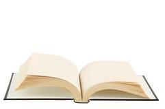 Libro abierto con las paginaciones vacías. foto de archivo